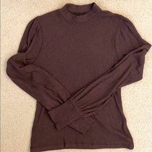 Abercrombie & Fitch Brown Mock Turtleneck